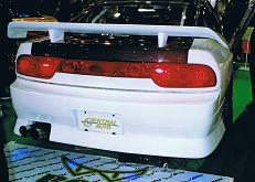 【SILVIA 180SX】 BOSS Aero 180SX Rear View